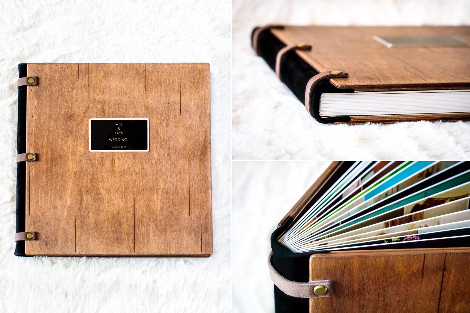 Wedding Album Wooden Cover